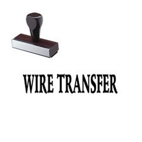 Wire Transfer Rubber Stamp
