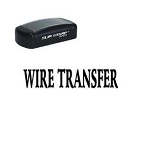 Slim Pre-Inked Wire Transfer Stamp