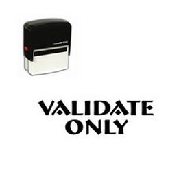 Self Inking Validate Only Rubber Stamp