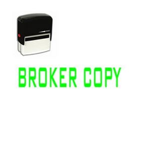 Self-Inking Broker Copy Stamp