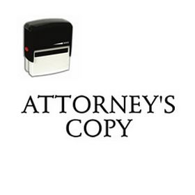 Self-Inking Attorneys Copy Stamp