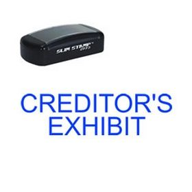 Slim Pre-Inked Creditors Exhibit Rubber Stamp