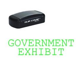 Slim Pre-Inked Government Exhibit Stamp