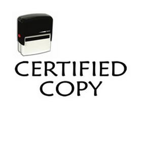 Self Inking Certified Copy Rubber Stamp