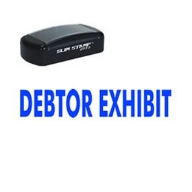 Slim Pre-Inked Debtor Exhibit Stamp