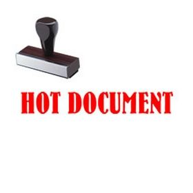 Hot Document Rubber Stamp