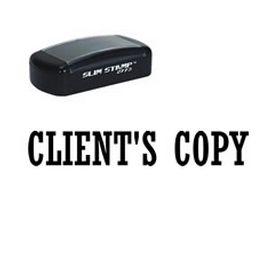 Slim Pre-Inked Clients Copy Office Stamp