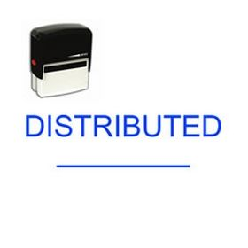 Self-Inking Distributed Stamp with a Line