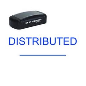 Slim Pre-Inked Distributed ________ Rubber Stamp
