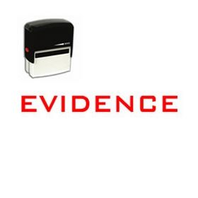 Self Inking Evidence Rubber Stamp