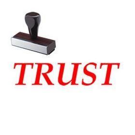 Regular Trust Rubber Stamp