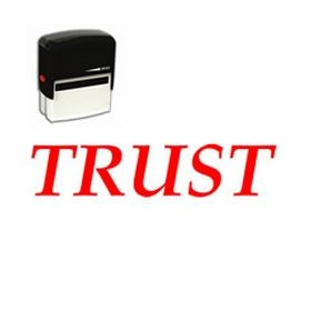 Self Inking Trust Rubber Stamp