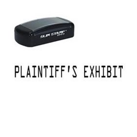 Slim Pre-Inked Plaintiffs Exhibit Rubber Stamp