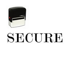 Self Inking Secure Rubber Stamp