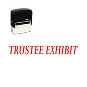 Self-Inking Trustee Exhibit Stamp