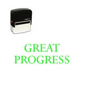 Self-Inking Great Progress Stamp