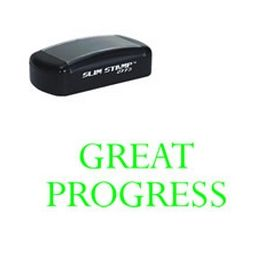 Slim Pre-Inked Great Progress Rubber Stamp