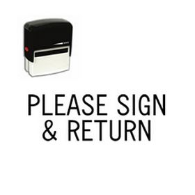 Self Inking Please Sign & Return Rubber Stamp