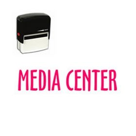 Self Inking Media Center Rubber Stamp