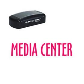 Slim Pre-Inked Media Center Library Stamp