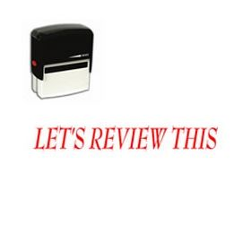 Self-Inking Lets Review This Stamp