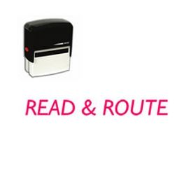Self Inking Read & Route Rubber Stamp