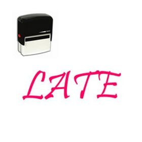 Self Inking Late Rubber Stamp