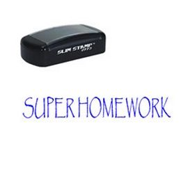 Slim Pre-Inked Super Homework Stamp