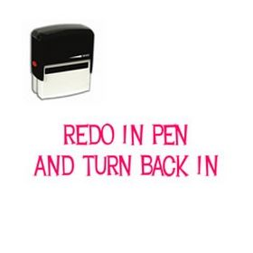 Self-Inking Redo In Pen And Turn Back In Stamp