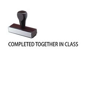 Regular Completed together in class Rubber Stamp