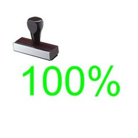 100% Rubber Stamp