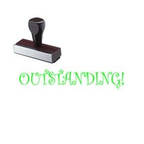 Regular Outstanding! Rubber Stamp