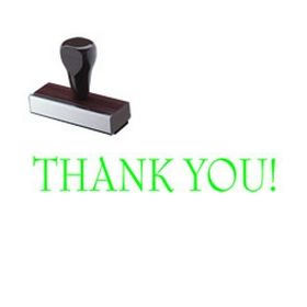 Regular Thank You Rubber Stamp (Large)