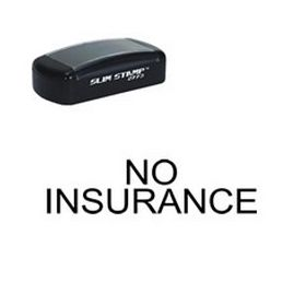 Large Slim Pre-Inked No Insurance Rubber Stamp