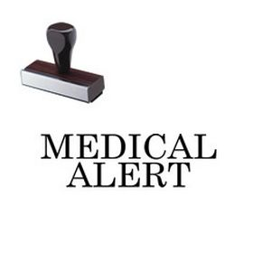Large Regular Medical Alert Rubber Stamp