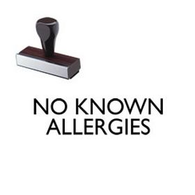 No Known Allergies Rubber Stamp