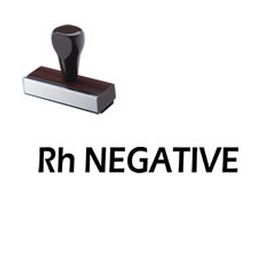 Large Regular Rh Negative Rubber Stamp