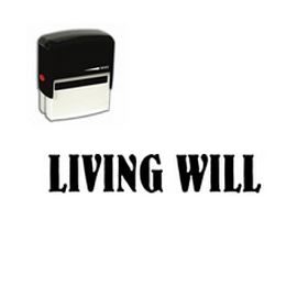 Large Self Inking Living Will Rubber Stamp