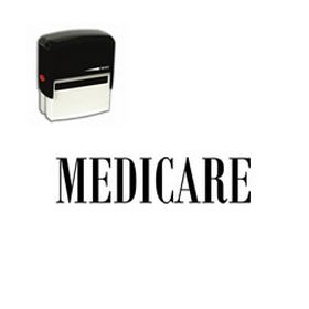 Large Self Inking Medicare Rubber Stamp
