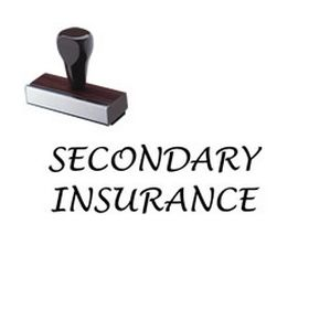 Large Regular Secondary Insurance Rubber Stamp