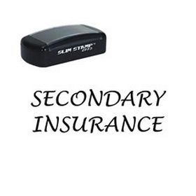 Large Slim Pre-Inked Secondary Insurance Rubber Stamp