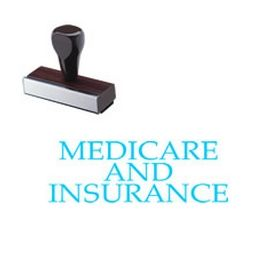 Large Regular Medicare and Insurance Rubber Stamp