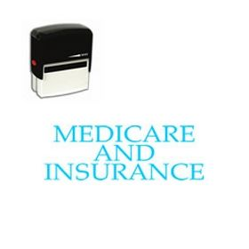 Large Self Inking Medicare and Insurance Rubber Stamp
