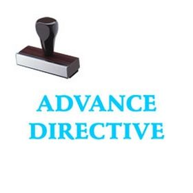 Large Regular Advance Directive Rubber Stamp