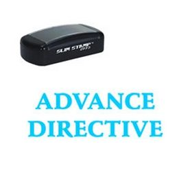 Large Slim Pre-Inked Advance Directive Rubber Stamp