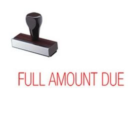 Full Amount Due Rubber Stamp