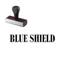 Blue Shield Rubber Stamp