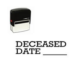 Self-Inking Deceased Date Stamp
