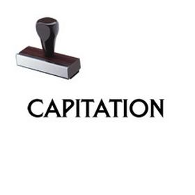 Large Regular Capitation Rubber Stamp