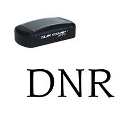Large Slim Pre-Inked DNR Rubber Stamp